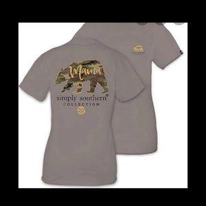 Simply Southern Mama Bear Camo Glitter Shirt